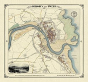 Berwick-upon-Tweed 1857 Map