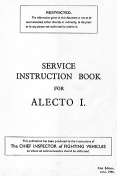 Service Instruction Book for Alecto I