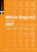 Which Degree?: 2007