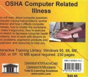 OSHA Computer Related Illness