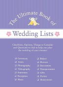 Ulitmate Book of Lists from Wedspace.com