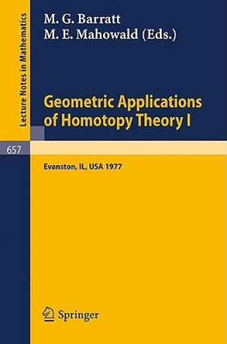 Geometric Applications of Homotopy Theory I: Proceedings, Evanston, March 21 - 2