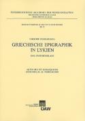 Griechische Epigraphik In Lykien [GER]