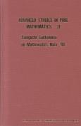 Taniguchi Conference on Mathematics Nara 1998