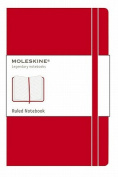 Moleskine Pocket Ruled Notebook Red