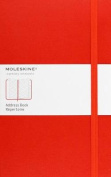 Moleskine Large Address Book Red