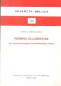Reading Ecclesiates