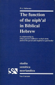 Function of the Niph'al in Biblical Hebrew