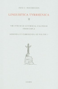 Linguistica Tyrrhenica II