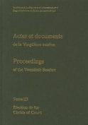 Actes et Documents de la Vingtieme Session / Proceedings of the Twentieth Session