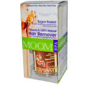 Moom Spa Hair Remover Kit, Lavender - Hair Remover, 12 Body & 6 Face Reusable Fabric Strips, 4 Wooden Applicators, 1 Kit