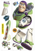 RoomMates Wall Decorations 13cm . x 48cm . Toy Story Buzz 12-Piece Peel and Stick Giant Wall Decals Whites RMK1431GM
