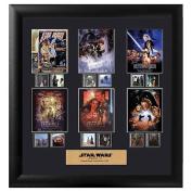 Star Wars Episode I-VI Framed Montage Film Cell