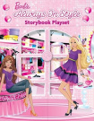 Barbie Always in Style Storybook Playset [With Flip Book and Double-Sided Play Scene, 3 Stand-Up Dolls, Etc.]
