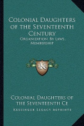Colonial Daughters of the Seventeenth Century