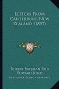 Letters from Canterbury, New Zealand