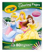 . Disney Princess Mini Coloring Pages & Markersᅠ