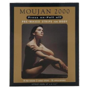 Moujan 2000 Press On Pull Off Pre-waxed Strips for Body 12 Applications