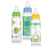 Nuby BPA Free Printed Non-Drip Bottle 3 Pack - 240ml