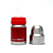organicKidz Wide Mouth, Red Solid, 120ml