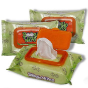 Boogie Wipes Natural Saline Kids and Baby Nose Wipes for Cold and Flu, Fresh Scent, 30 Count