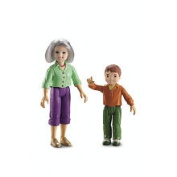 Fisher Price Loving Family Dollhouse Figures, Grandma and Brother