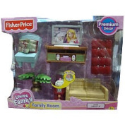 Fisher Price Loving Family Dollhouse Premium Decor Furniture Set - Family Room