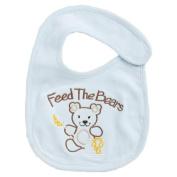 Funkoos Feed The Bears Organic Baby Bibs - Newborn/Infant/Baby Boy