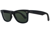 Ray-Ban Wayfarer Sunglasses Black with Crystal Green Lens