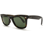 Ray-Ban RB2140 902 Original Wayfarer Sunglasses - Tortoise Frame - Green G-15 50mm Lenses