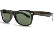 Ray-Ban New Wayfarer Sunglasses in Black with G15 Crystal Green Lens
