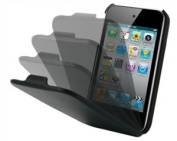 iPhone 4 Leather Hard Flip Case - Black