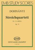 Streichquartett Nr. 3, A-Moll, Op. 33
