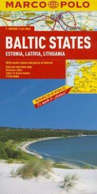 Baltic States (Estonia, Latvia & Lithuania) Marco Polo Map (Marco Polo Maps)