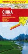 China, Korea, Bhutan Marco Polo Map