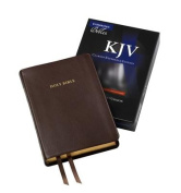 KJV Clarion Reference Edition KJ485:X Brown Calfskin Leather