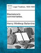 Blackstone's Commentaries.