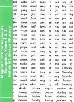 Magnetic School Keywords - Reception, Years 1 & 2: National Literacy Strategy