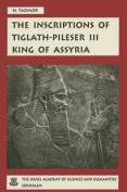 Inscription of Tiglath Pileser III, King of Assyria