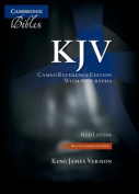 KJV Cameo Reference Edition with Apocrypha KJ455:XRA Black Calfskin Leather