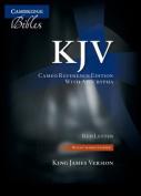KJV Cameo Reference Edition with Apocrypha KJ455:XRA Black Calfskin Leather