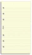 Filofax Personal Refill Lined Notepaper Cotton Cream