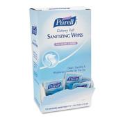 "Cottony Soft Individually Wrapped Hand Sanitizing Wipes, 5"" x 7"", 120/Box"