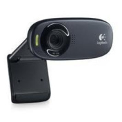 LOGITECH C270 HD Webcam HD720p video Built-in(RightSound) mic 3-megapixel picture RightLight Free