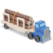 Melissa & Doug Wooden Log Carrier Set
