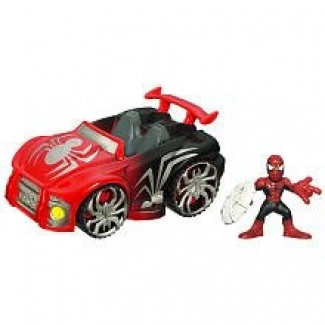 Marvel Super Hero Squad Spider-Man Action Figure and Vehicle -  Web Wheels