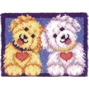 Wonderart Latch Hook Kit 50cm x 70cm  - Shaggy Puppies