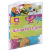 SmArt Foam Glitter Stickers, 70ml, Butterflies and Dragonflies