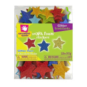 Fibre Craft 81286 Foam Glitter Stickers 2.25 Ounces