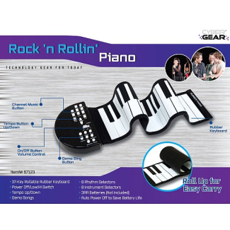 Rock 'N Rollin' Rollable Rubber Keyboard